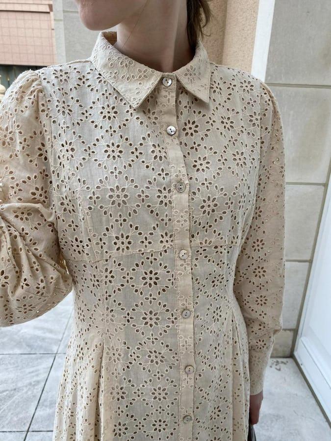 cotton race shirt onepiece