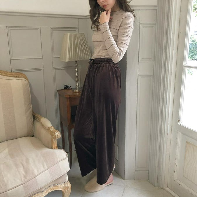 velour wide pants