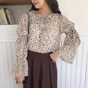 girly leo blouse