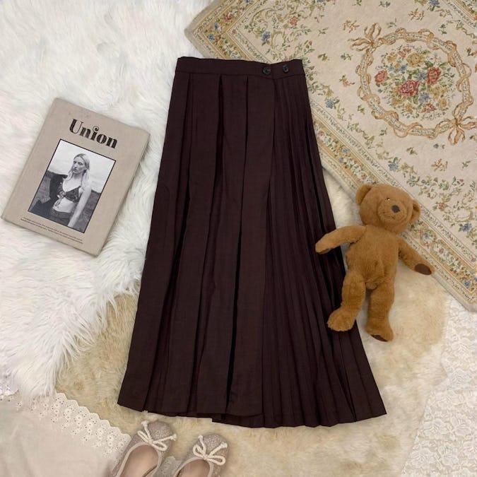 ダークチョコプリーツスカート
