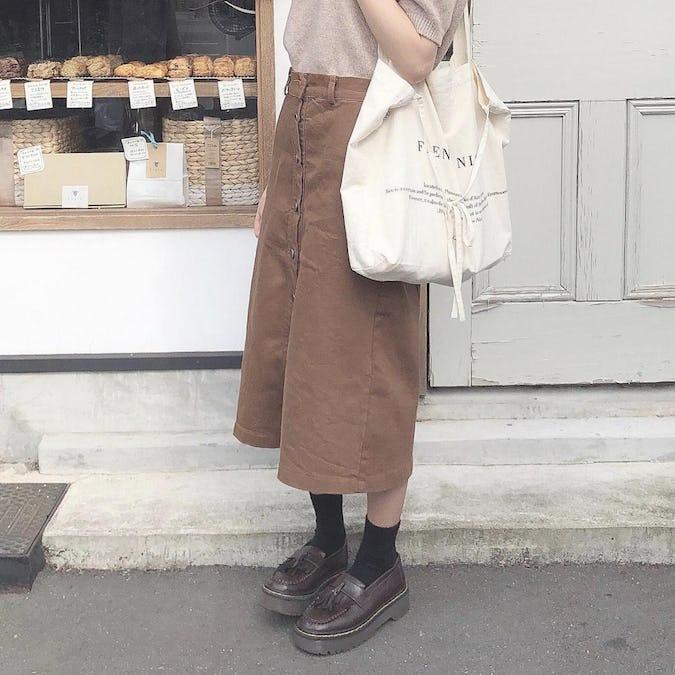 button down skirt-0