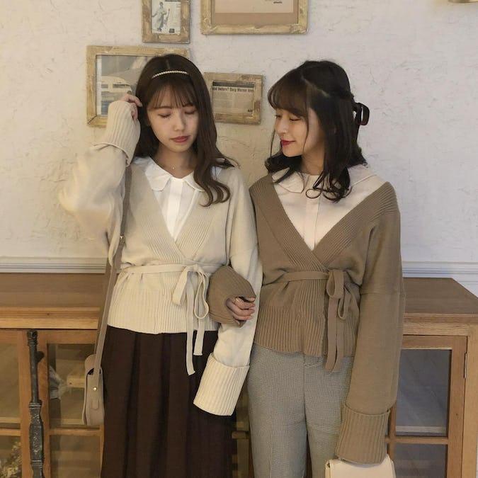 waist ribbon cardigan-0
