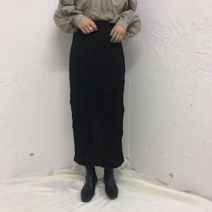 Wrinkle long skirt