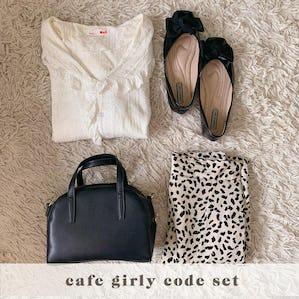 cafe girly code set