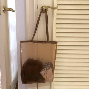 see-through brown bag