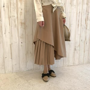 mix pleats skirt