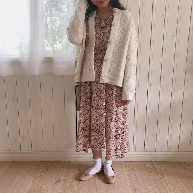 snow knit cardigan