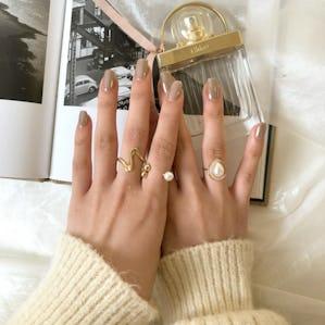 pearl pearl ring set