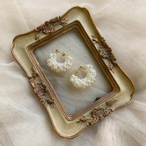 pearl wreath earring