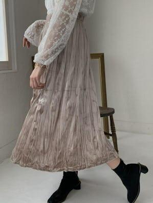 velour long skirt
