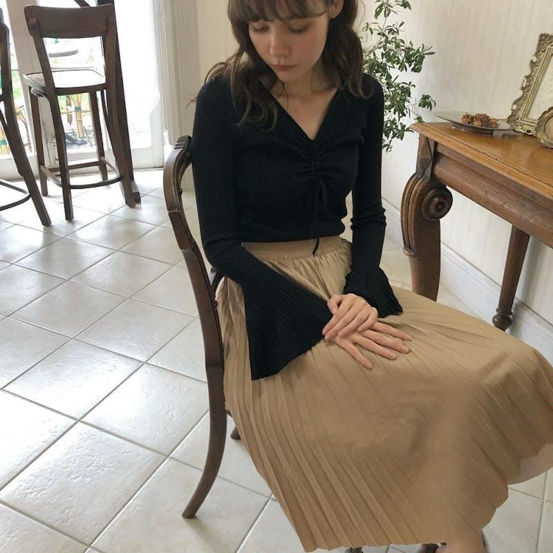 レザープリーツスカートの画像5枚目
