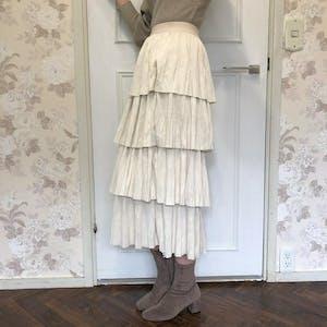 フリルスエードスカート