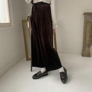 velvet long pants