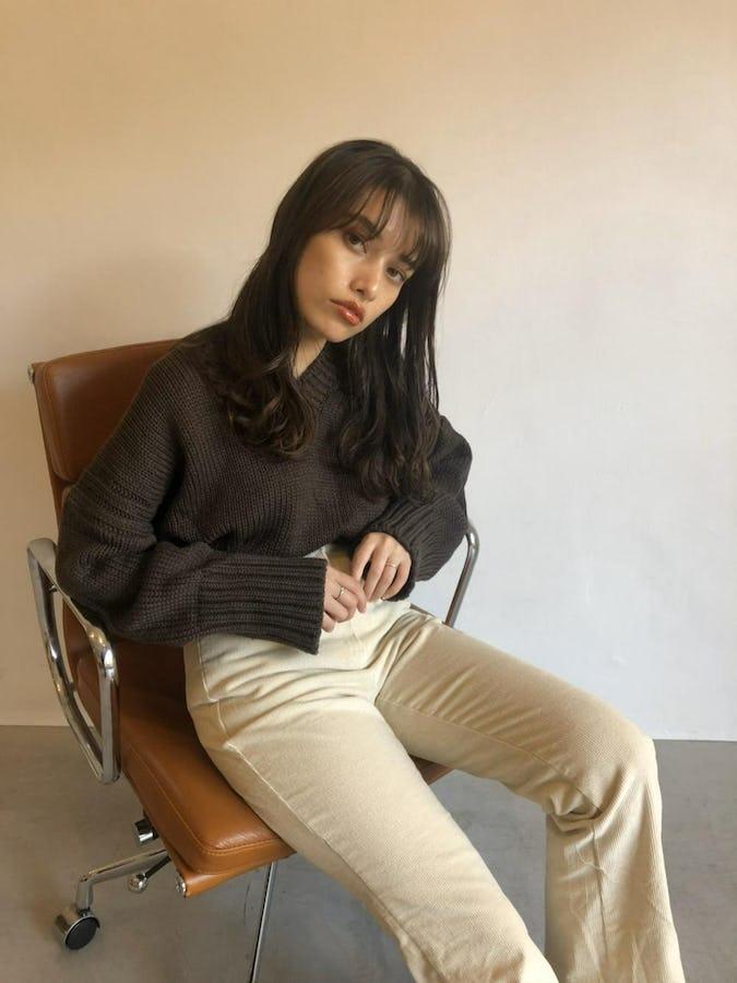natural V knit