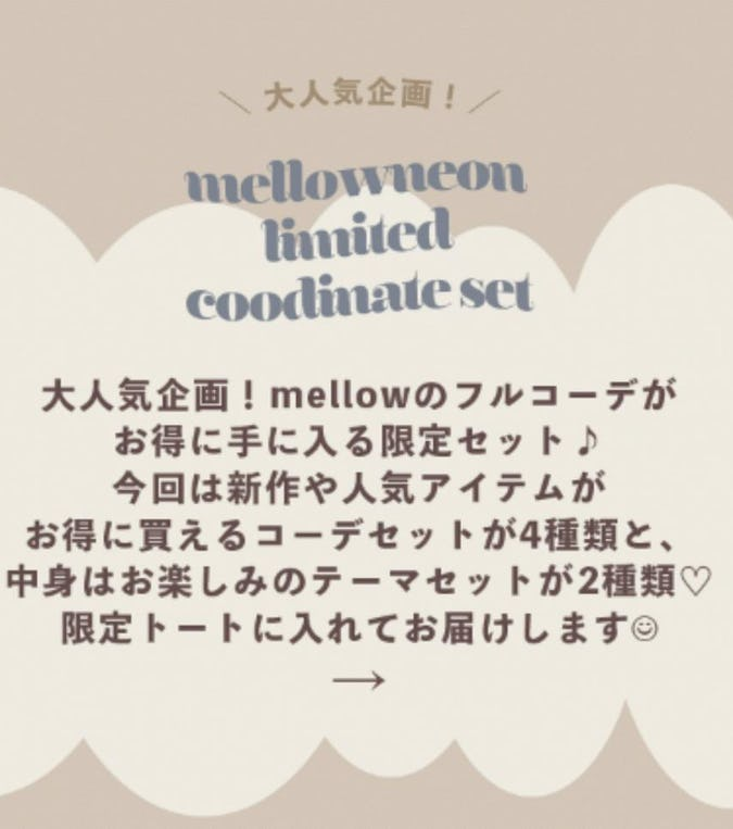 10/29 mellowneon limited coodinete set