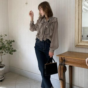 【11/8~順次発送】ribbon tie blouse