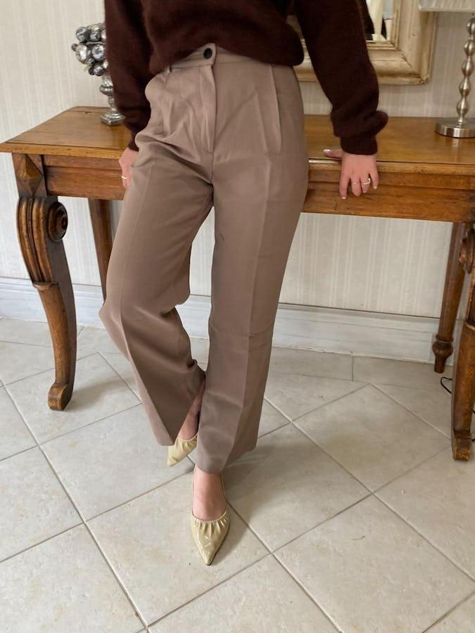 classical high waist pants-0
