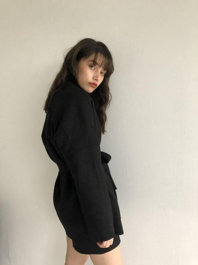 waist ribbon short coat