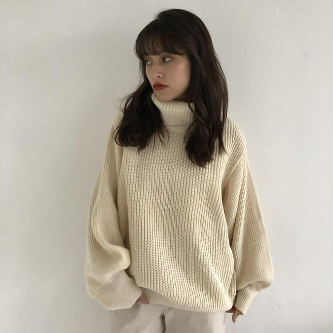 knit vest&turtle set-0
