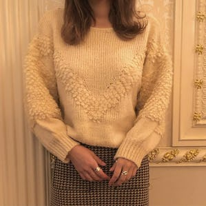 poodle sleeve knit