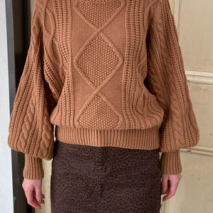 couverture cable knit