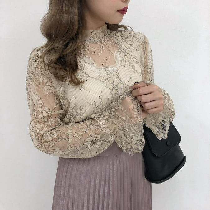vintage flower lace bl