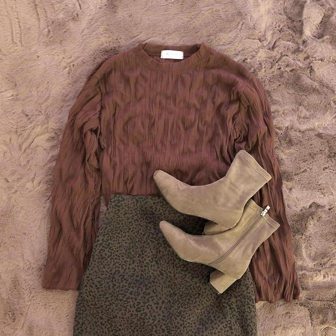 leopard tight skirt