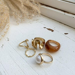 brown pearl set