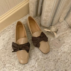 lapping ribbon square loafer