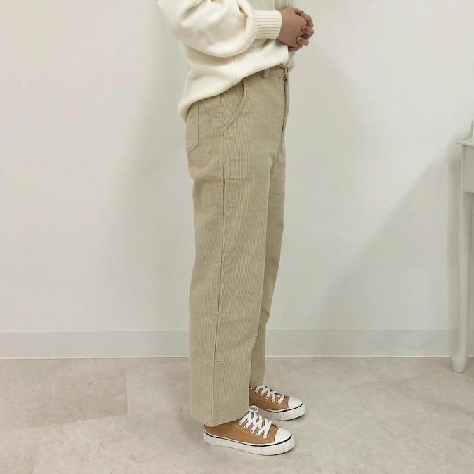 corduroy wide pants-0