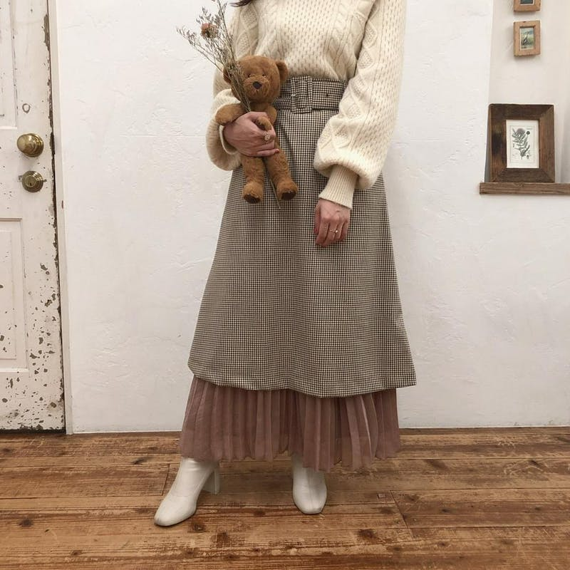 mellow's 5wayチェックプリーツスカートの画像1枚目