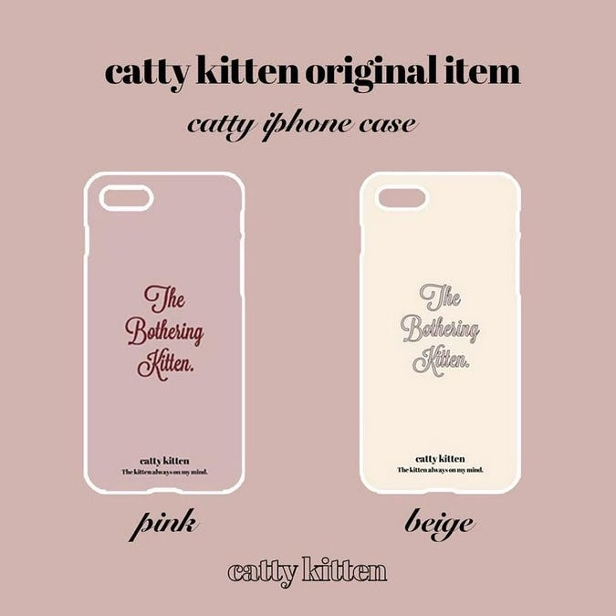 catty iphone case(PINK)