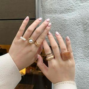 【11/18~順次発送】vintage tortoiseshell ringset