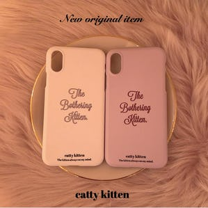 【11/25~順次発送】catty iphone case(BEIGE)
