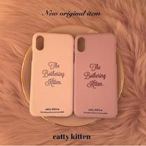 【11/25~順次発送】catty iphone case(PINK)