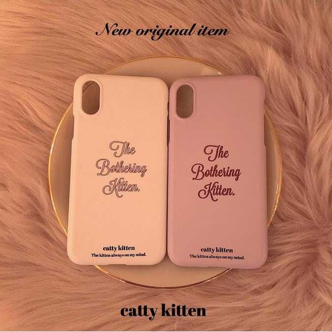 catty iphone case(PINK)-0