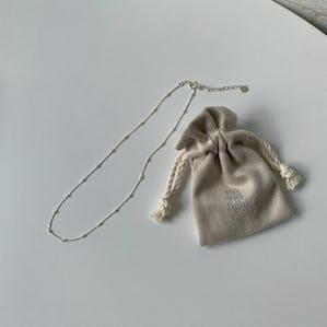 silver925 petit dot necklace