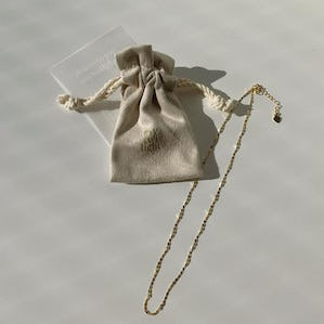 silver925 charm necklace GOLD