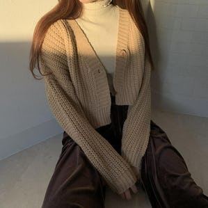 short knit cardigan