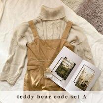 teddy bear code SET A