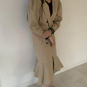 frill trench jacket