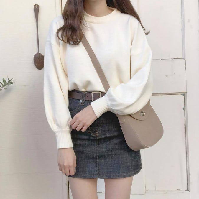 balloon sleeve knit