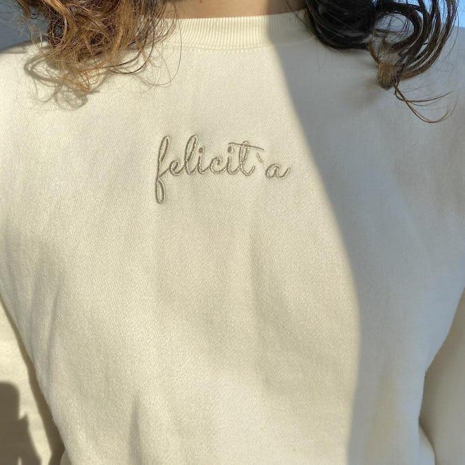 felicità back lace up sweatshirt