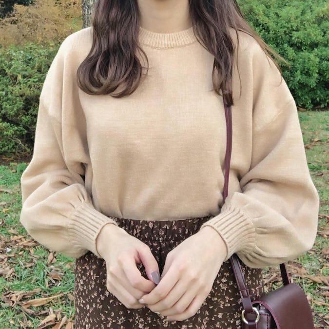 balloon sleeve knit-0