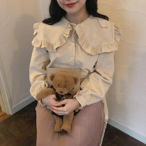 【11/29~順次発送】couduroy bear  bl