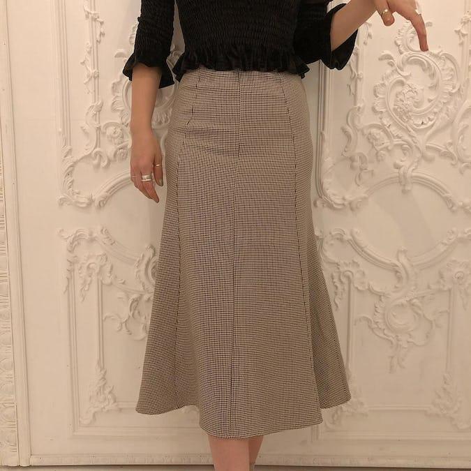 chidori long skirt-0