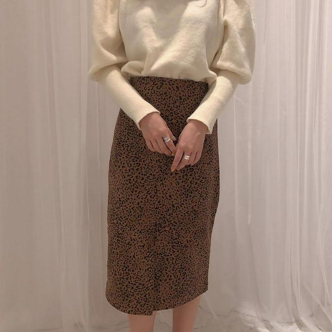 leopard tight skirt-0