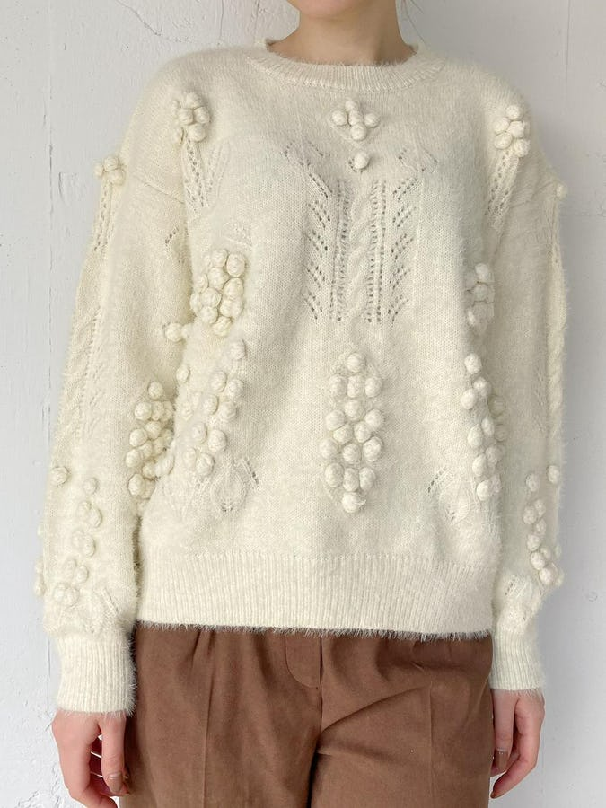 pon pon  botanical knit