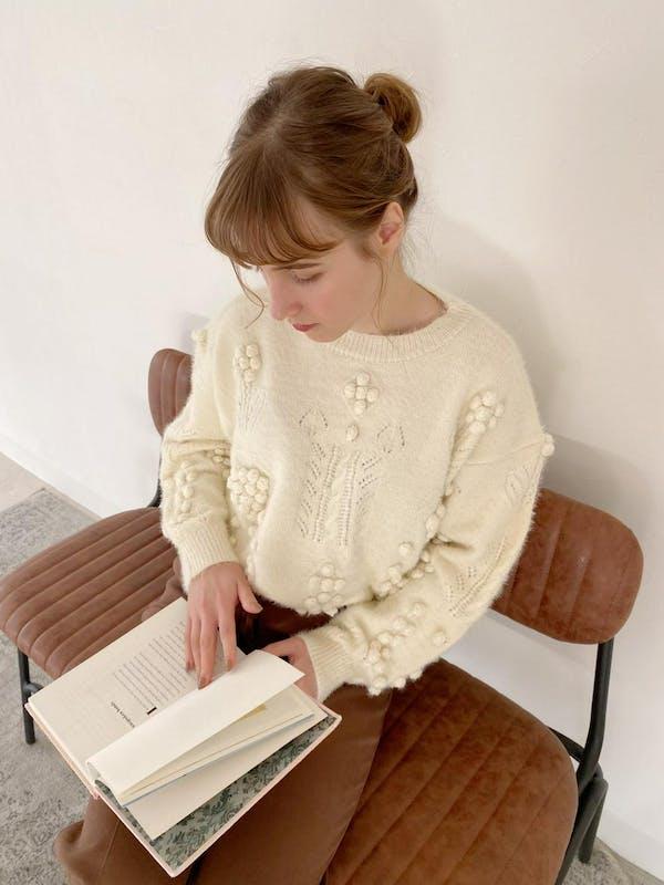 pon pon  botanical knitの画像1枚目