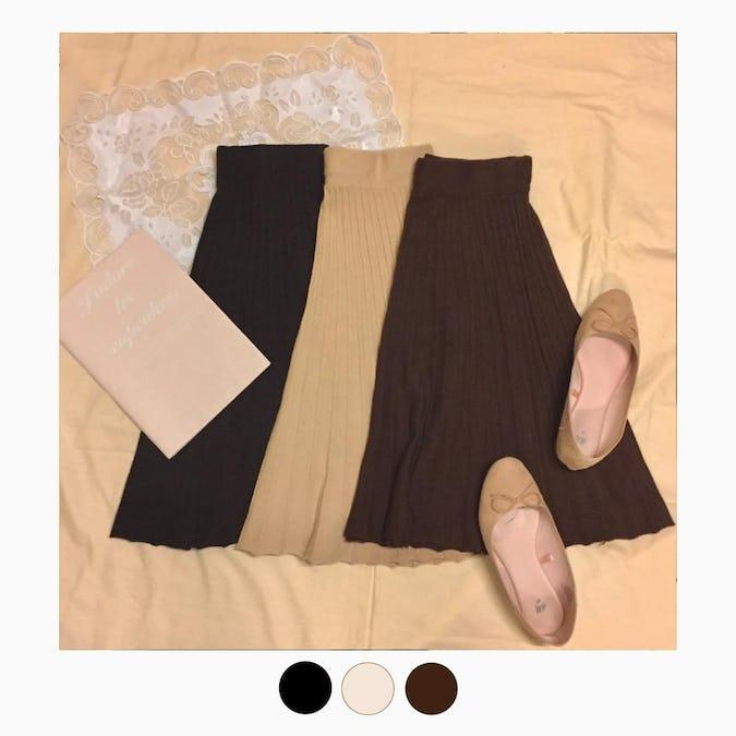 girly mini kint skirt-0